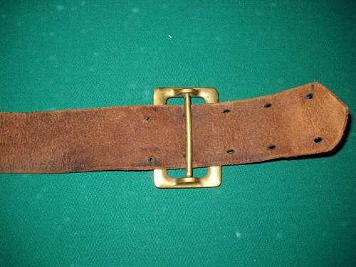 WWII Leather belt ?