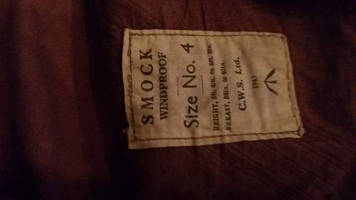 SMOCK Windproof dated 1943 found in Norway
