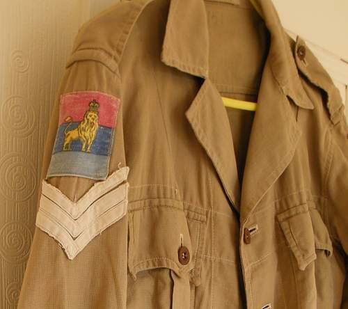 Jackets Bush, Khaki, 1950 pattern