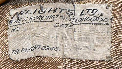 ww2 Brit SD tunic's tailors labels