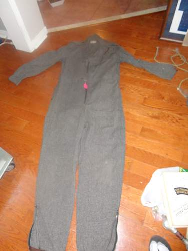 Named Pre-war Pilots training Sidecot fly suit Canadian