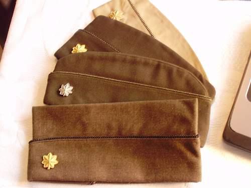 Chocolate garrison cap