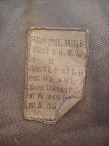 US War Aid British Greatcoat