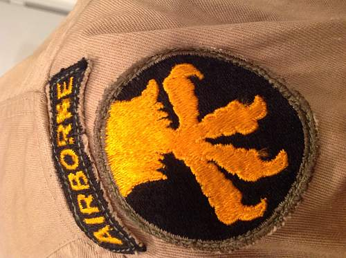 Double airborne patch jacket???