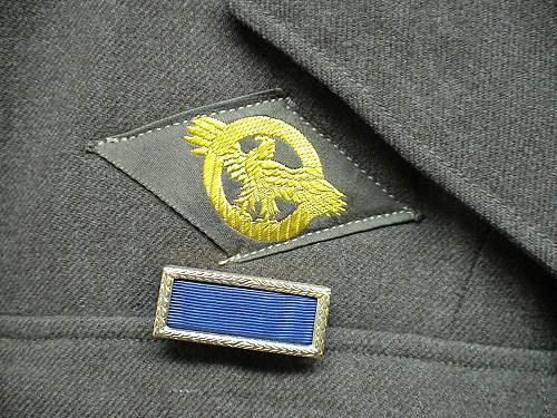 8th AAF Blue Back Bullion Aerial Gunner Ike