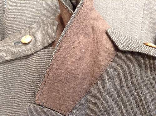 US uniform jacket for Identification H/A patch