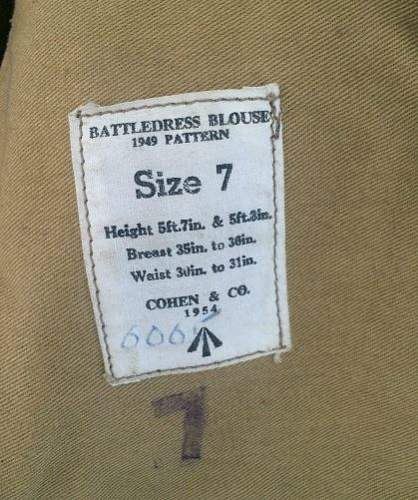 Another post war british battledress blouse !