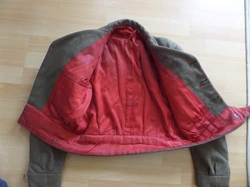 Tailor made Battle dress jacket