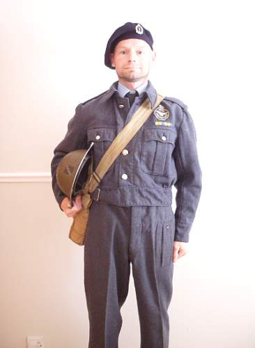 WW2 OBSERVER CORPS UNIFORM(now complete)!!