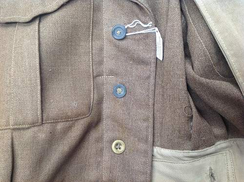 1937 pattern Royal Engineers Staff Sgt's BD Blouse