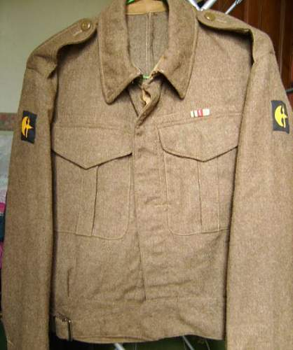 78th division battledress , a tribute to my dad.