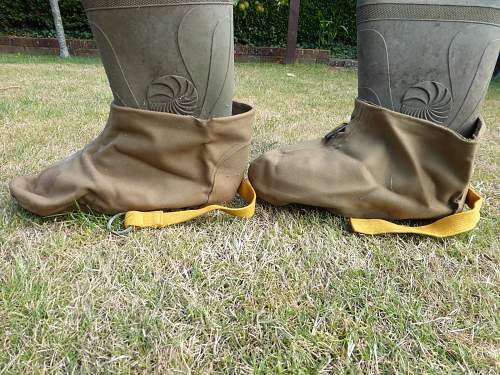 WW2 British waterproof over shoes/boots.