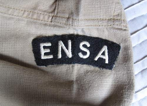 ENSA airtex bush shirt: Artists at War!