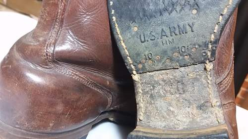 US Russet Service Shoe/boots Early War