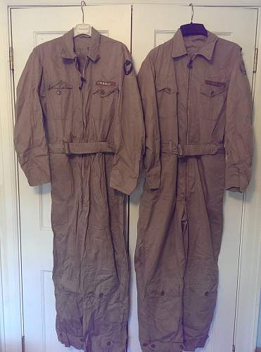 USAAF Flight Suits and cap Grouping
