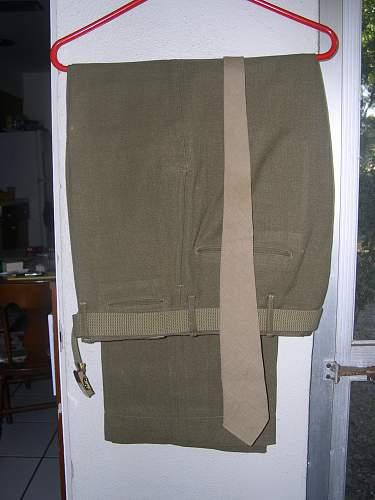 US WW2 signal corps uniform