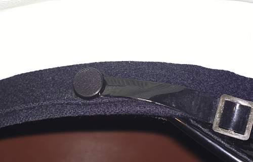 Interesting rubber-covered visor cap