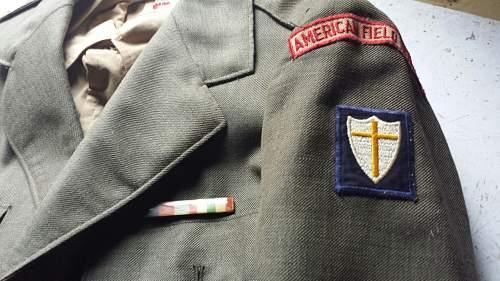 WW2 American Field Service uniform