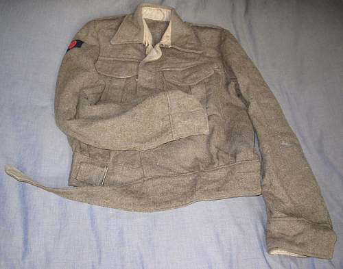 5th Indian Division 1937 Pattern Indian Made  Battle Dress Blouse