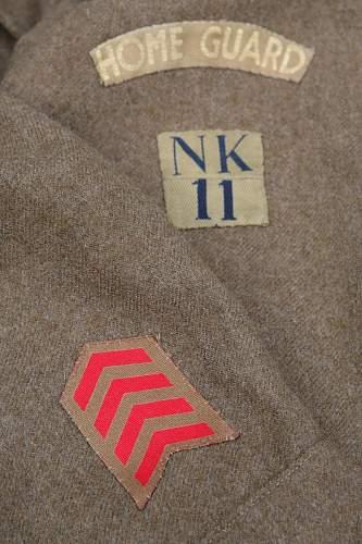 British 1937 Pattern BD Blouse, Norfolk Home Guard
