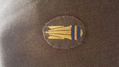 WW2 Uniform of captain C.A.Simpson royal artillery