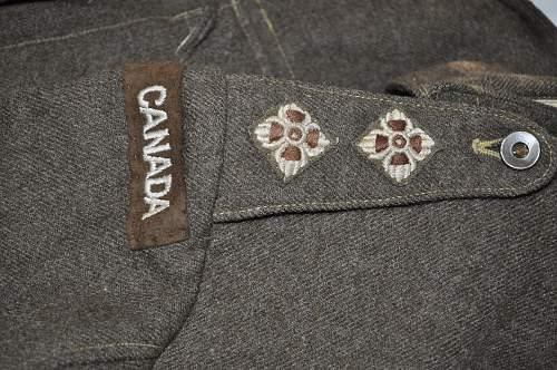 Canadian Battle Dress  Blouse