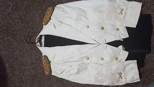 40s to 50s era army white mess dress