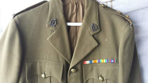 Canadian Medical Officer's tunic and cap