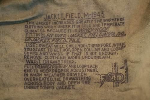 US M43 Field jacket: WWII original????