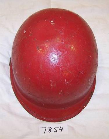 USN RED Damage Control helmets on ebay