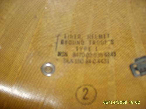 M1 Helmet Heat Stamp