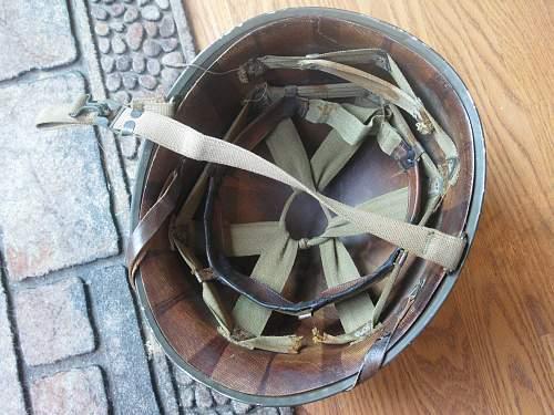 My WWII MI Helmet fixed bale