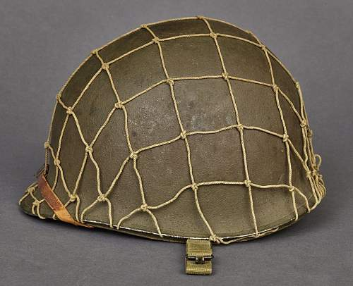 WW2 US M1 Front seam fixed bale with Westinghouse OD3 liner