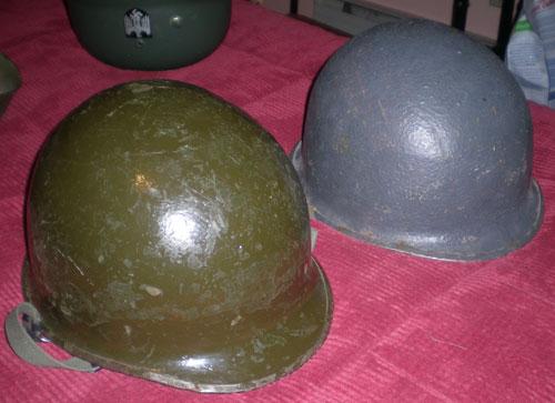 Two M1 Helmets w/Swivel Bales is one WW2?