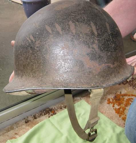 WW2 US Marine helmets