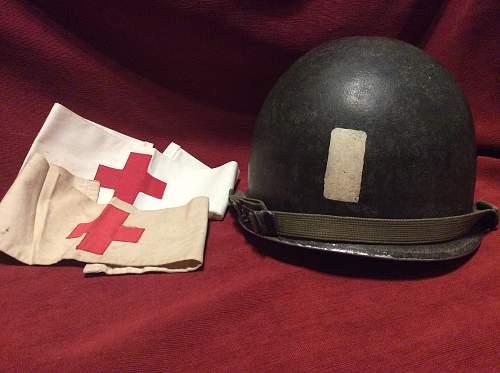 49th field hospital chaplain m1 helmet