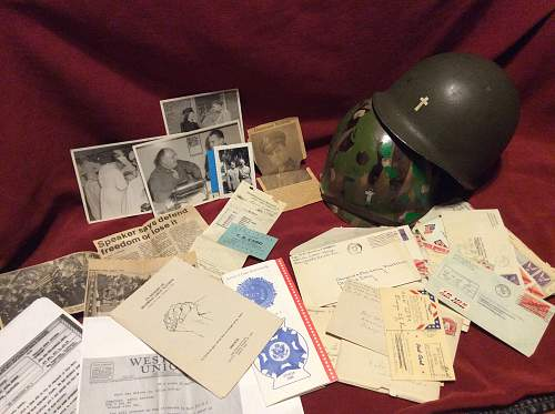 Named ww2 Chaplain m1 helmet