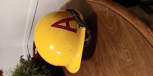 Ww2 u.s helmet identification m1 rear seam