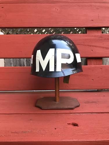 VIETNAM M1 HELMET WITH MP LINER with Markings