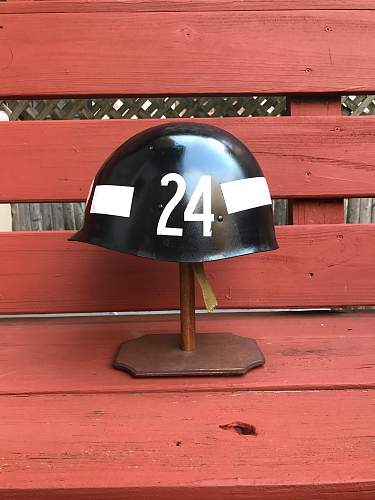 VIETNAM M1 HELMET WITH MP LINER with Markings