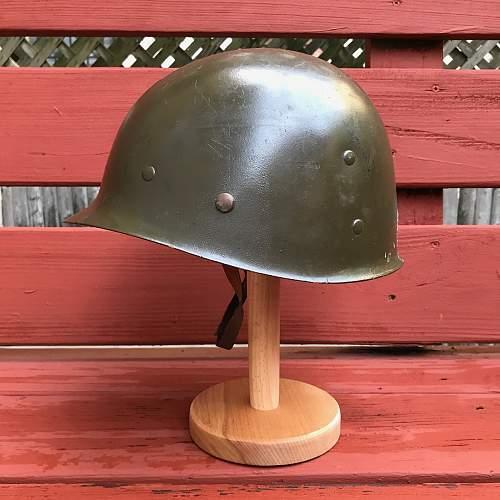 An original - a ww2 m1 helmet