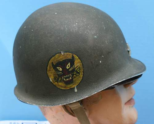 Fixed bale front seam  early m-1 shell with general stars and unknown decals