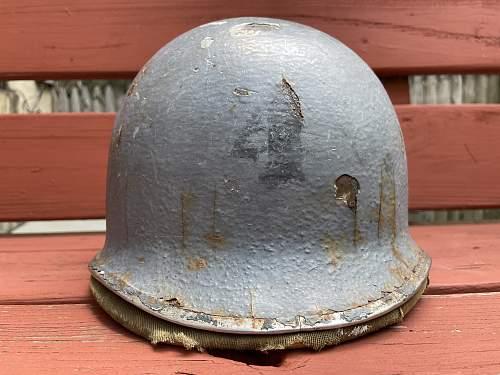 WWII USN FIXED LOOP SALTY OLD DOG w HAWLEY 3RD PATTERN
