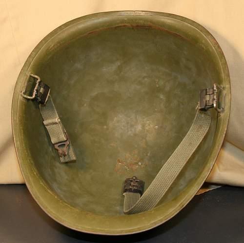 M-1 ww2 marine corps helmet.? Need help to verify please