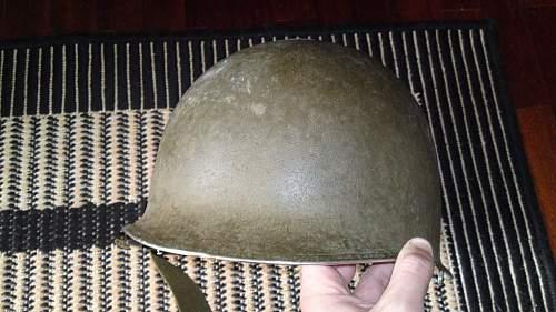 Flea market find--US  M1 Helmet