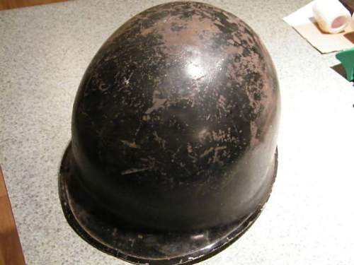 Black painted M1 helmet, anything special about this helmet?