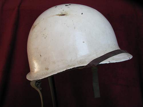 Named White M1 -  Fixed Bale - 10th Mountain Division Decaled Liner
