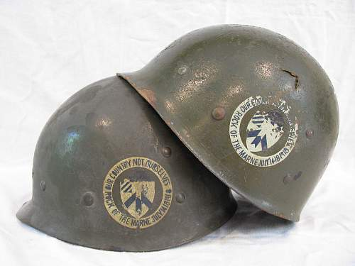 Twin M1 Liners - Inf. Training School/30th Reg. Marked - Named
