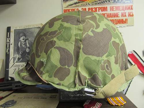 Korean War M1 with mosquito net