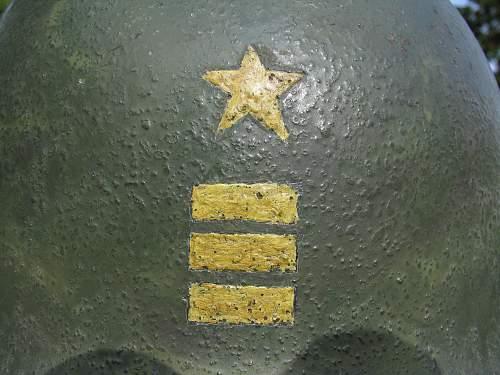 Painted US M1 Navy Helmet - Commander Rank